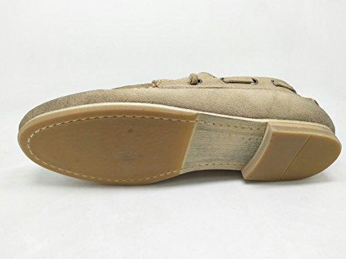 WTUS Loisirs Antidérapant Mocassins Cuir Suedé Classic Homme Chaussure beige1