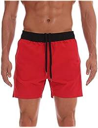 cc839f75b Arcweg Bañadores para Hombres Pantalones Cortos Deportivos Hombres de Playa  Secado Rápido Impermeable Transpirable Elástico Bañadores