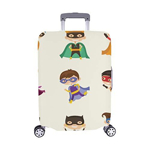 (Nur abdecken) Cute Superhero Kids Pattern Staubschutz Trolley Protector case Reisegepäck Beschützer Koffer Abdeckung 28,5 X 20,5 ()