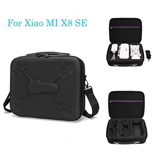 TianranRT★ Fotorucksack/Laptop-Tasche Wasserdichter Tragbarer Aufbewahrungskoffer Für Xiao Mi X8/X8 Se, Drohnenbeutel Lila-Schwarzer Reißverschluss