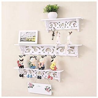 Apgstore Ogori Set von 3Shabby Chic Stil Schwimmende Wandregal Bücherregal weiß Wand montiert Dekorativen Display Wandregal Aufbewahrung Rack.