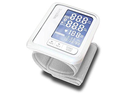 Terraillon Tensiomètre Poignet Connecté Tension Artérielle et Rythme Cardiaque 1 Utilisateur 60 Mémoires Bluetooth Tensio Blanc