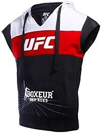 BOXEUR DES RUES Fight Activewear Serie, Sudadera sin Mangas con Logo UFC Hombre, Hombre