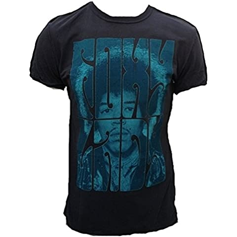 Amplified – Camiseta para hombre gris charcoal Antracita Official Jimi Hendrix personalizada Foxy Lady Rock Star Vintage costuras exterior Club VIP Rock Star