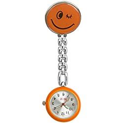 AiMeiJia Cute Smiley Face Nurse Table, General Clip Pin Reloj