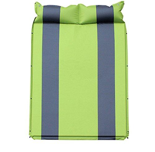 Bettwäsche-paket (QQBL Doppelte Verdickung und Erweiterung Im Freien Schlafmatte Nickerchen Matte Im Freien Camping PVC Double Automatische Aufblasbare Kissen Lieferung Reparatur-Paket,Green)