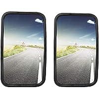 2x Camiones, furgonetas o Front Espejo Universal 30x 18cm tamaño con soporte flexible Set