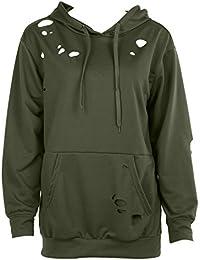 Domybest Mode Frauen Langarm Hoodie Sweatshirt Pullover Lässige  Kapuzenpullover 0b28df0525