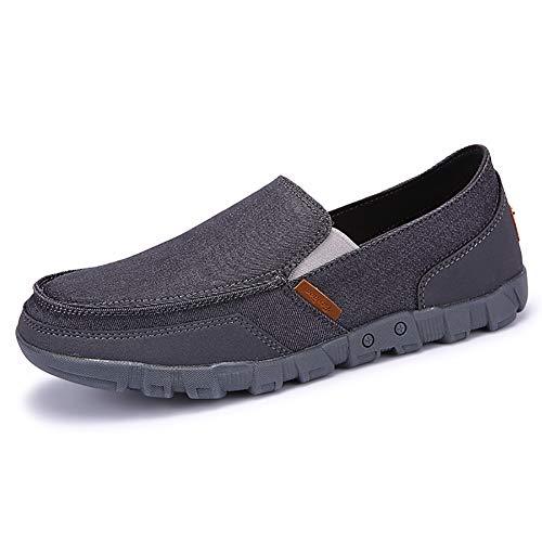 FHTD Mocassini leggeri leggeri da uomo Slip On Scarpe da ginnastica pieghevoli più larghe Trainer per scarponi Taglia 5-13,gray,41