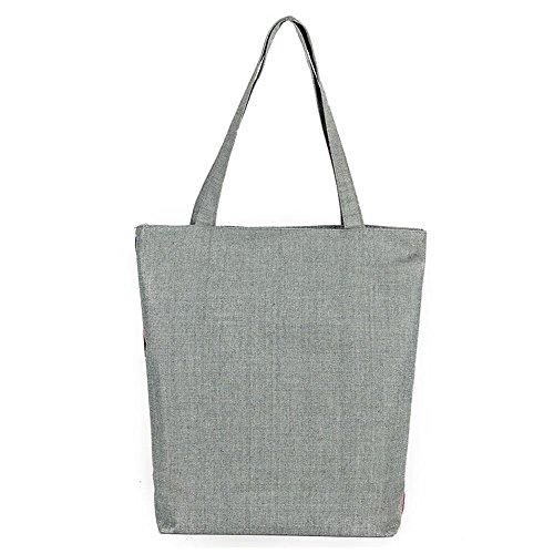 Sacchetto di spalla stampato elefante del sacchetto della tela di canapa 3