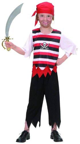 erkostüm Pirat exklusiv, Größe 140 (Piratas Disfraz Halloween)