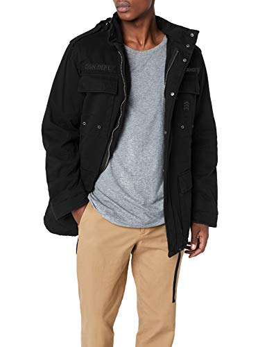 Brandit Herren Ryan M65 winterjacket Jacke, Schwarz (black 2), Large