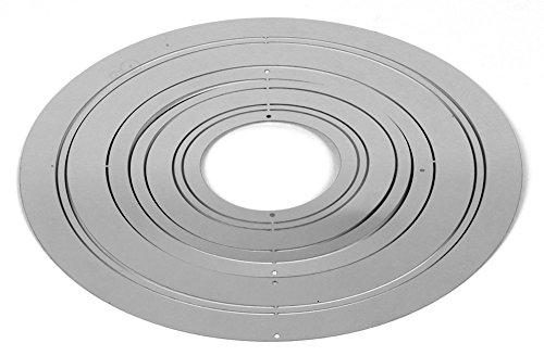 Exklusives kreisförmiges Windspiel LEVRIERO CERCHIO aus rostfreien glänzenden Edelstahl Ø20cm - 2