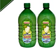 Herbal Trends Pure Amla Juice 1 Litre -Made from Himalayan Amla Fruit- Wild Amla juice for drinking-Pack of -2