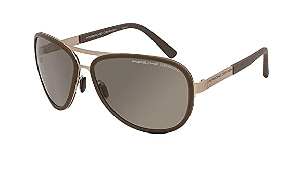 0cf7326d347b Porsche Design Porsche 8567 B GoldSand Womens Sunglasses Gold Sand - Color  Gold  Sand  Amazon.co.uk  Clothing