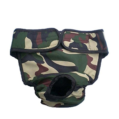 Kostüm Samojede (YiZYiF Hunde Hündinnen Schutzhose Läufigkeit Unterhose Unterwäsche Läufig Hose Shorts S-XL Camouflage)