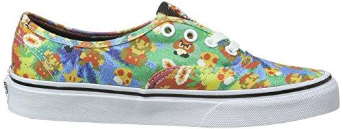 Vans Authentic, Sneaker Unisex – Adulto Multicolore (Nintendo/Super Mario Bros/Tie-Dye)