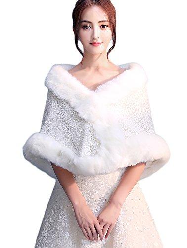 Icegrey Mujer Invierno Chal Estola Capa Piel Sintética