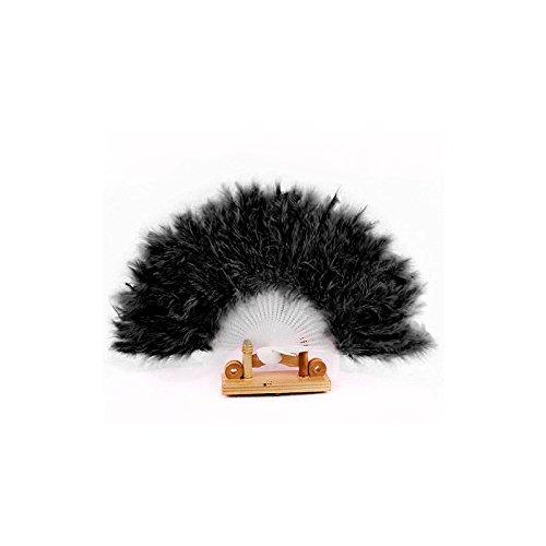 mxjeeio Mädchen Feder Fächer Vintage Kinder Handfächer 1920s Great Gatsby Mädchen Fasching Kostüm Accessoires Zubehör