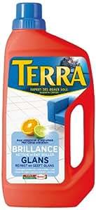 Terra - Produit de Lavage pour Sols - Brillance aux Essences d'Agrumes - Bouteille 0.9 L