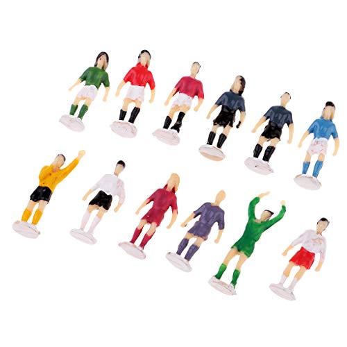 Fenteer 12 x 1/87 Spur Ho Fußball Sportler Menschen Modell Figuren Zubehör - gemalt