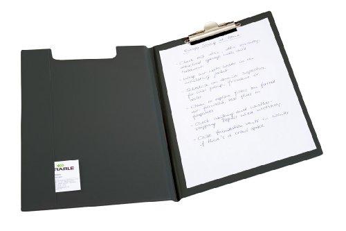 Durable 235701 Blockmappe (für DIN A4, Weichfolie, Klemme oben, 330 x 15,5 x 235mm) schwarz