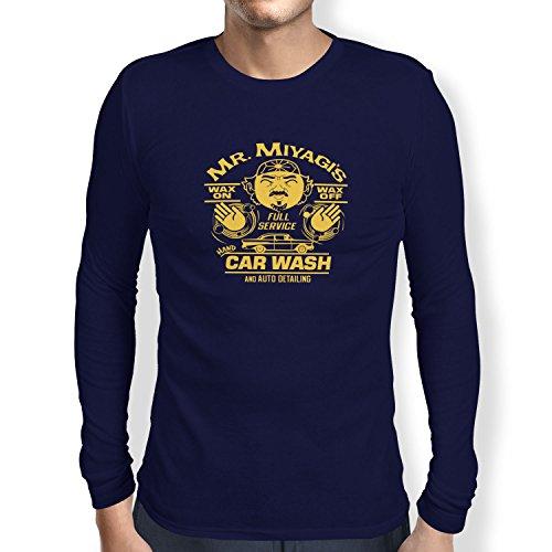 TEXLAB - Mr. Miyagi's Car Wash - Herren Langarm T-Shirt Navy