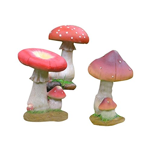 Décorations champignon résine