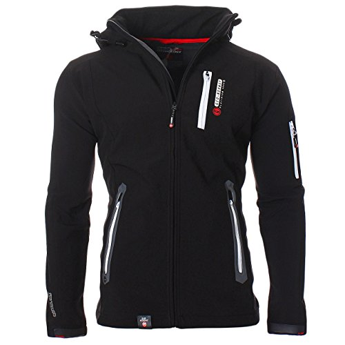 Geographical Norway Trimaran Uomo Softshell Outdoor Giacca Impermeabile Anapurna Tecnica - Nero, L