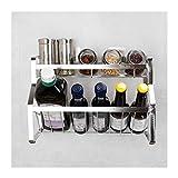 Yxx max Regal küche Küche Regal Schräge Gewürz Regal Punch Free Wandbehang Gewürz Lagerung 304 Edelstahl Gewürz Rack (größe : 45cm)