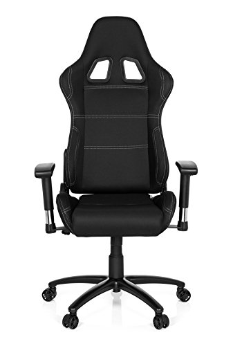 hjh OFFICE 729300 silla de Gaming/Silla de oficina Game Force tela negro