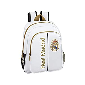 413PhWCM73L. SS300  - Real Madrid CF niños Equipaje, Blanco, Talla Única