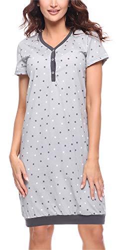 Merry style camicia da notte donna ms10-183 (grigio scuro, m)