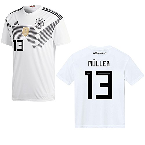 DFB DEUTSCHLAND Trikot Home Herren WM 2018 - MÜLLER 13, Größe:L