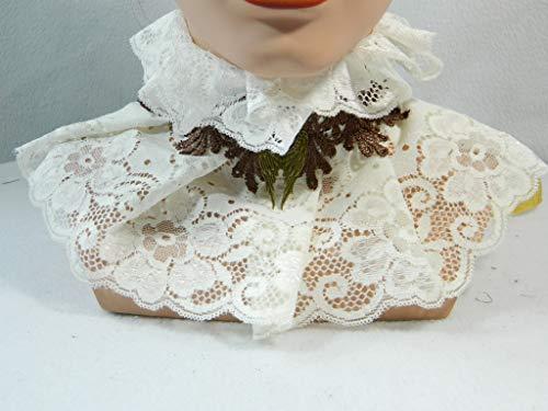 Halsband creme braun Engelsflügel Steampunk Viktorianisch Barock Rokoko Halskrause Choker