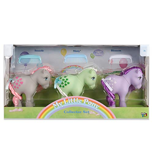 My little Pony 35267 Retro Collector 3er-Pack: Snuzzle, Minty, Blossom, Mehrfarbig
