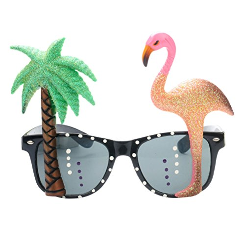 TOYMYTOY Flamingo Party Sonnenbrillen Brillen - Tropical Style PC Material lustige Sonnenbrille, Festival Party Gefälligkeiten, Kostüm Party, Kindertag