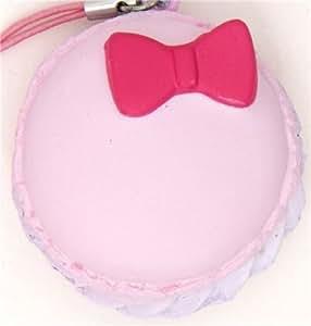 pink Hello Kitty macaroon squishy charm with ribbon