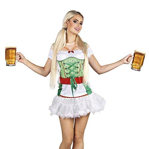 Boland maglia fotorealistica tirolese heidi per adulti, bierfest, verde/bianco, s, 84275