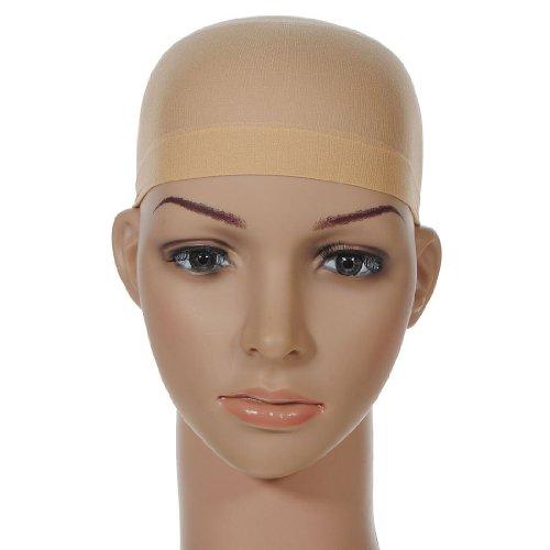 Luckiests 2ST One Size elastischer Strumpf Mesh-Deluxe Wig Cap Unisex Abendkleid Haarnetze
