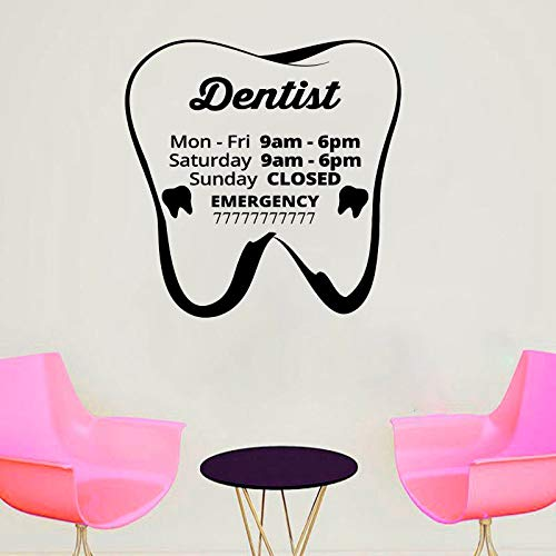 Dental Clinic,Custom,Quote Wall Decal,Dentist Smile, Dental Wall Stickers, Teeth Clinic Removable, Tooth Decor Handmade Mural for Home Bedroom Decoration Wall Decal Room Art Gift