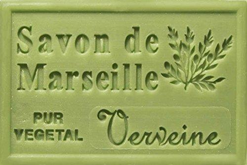 SAVON DE MARSEILLE 125g, French Soap, Vegetable Soap (Verbena (Verveine))