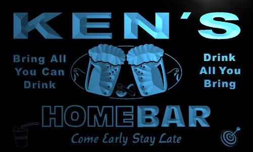 p267-b Ken's Home Bar Beer Family Last Name Neon Light Sign Barlicht Neonlicht Lichtwerbung - Ken-bar