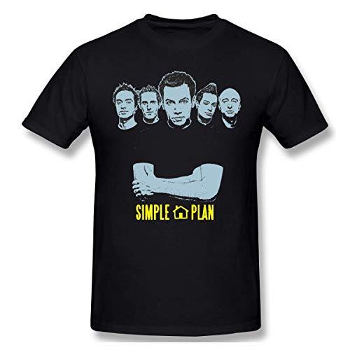 Mens Classic Simple Plan Rock Band Tee Black