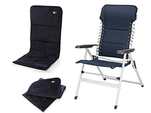 Campart Travel Unbekannt Robuster Alu Chaise de Camping avec Emplacement pour siège, siège Hauteur 50 cm, en 7 Positions réglables