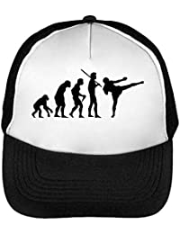 Human Evolution Mma Gorras Hombre Snapback Beisbol Negro Blanco