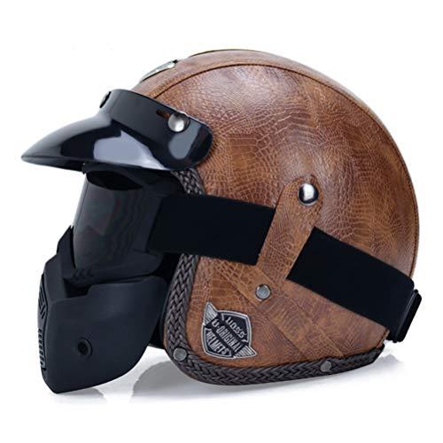 Helme offenes Gesicht 3/4 Helm personalisierte Mens
