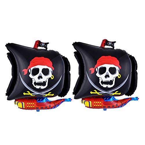 Toyvian 68cm Piratenschiff Folie Luftballons - Kinder Geburtstags Party Dekorationen, 2 Stück