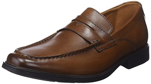 Clarks Tilden Way, Mocasines Hombre, Marrón Tan Leather-