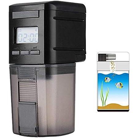 Automatische Fischfutterautomat, Aquarium Futterautomat Digital LCD Nahrungsmittelzufuhr Fütterung Timer für Fisch Tank
